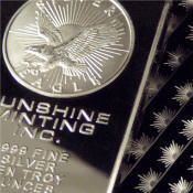 silver bullion and bars
